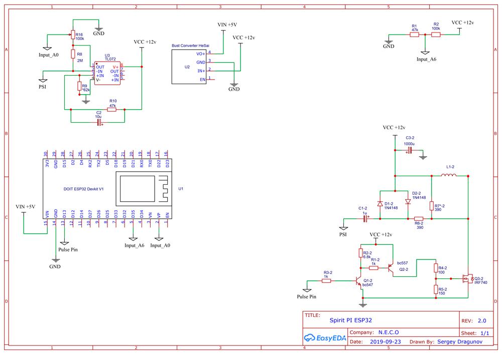 Spirit PI wireless metal detector based Arduino